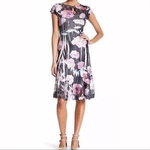 New Komarov MIDI Carnation Floral Dress L